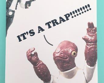 Star Wars wedding Admiral Ackbar Trap Wedding card and envelope - Star Wars - star wars gift star wars present star wars wedding