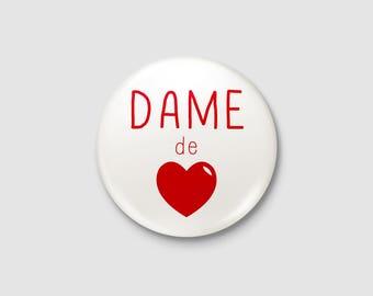 """Badge Poker """"Queen of hearts"""""""