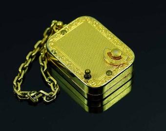 Vintage Key Ring Swiss Miniature Music Box