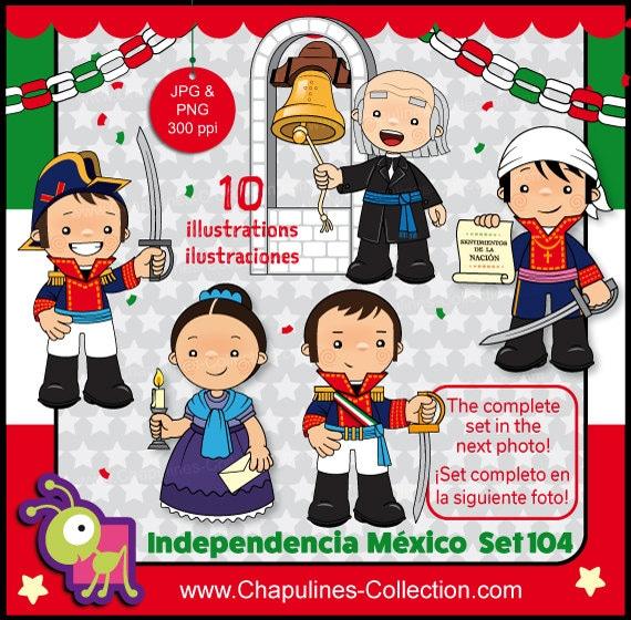 60% desc. Clipart Independencia de México héroes de la