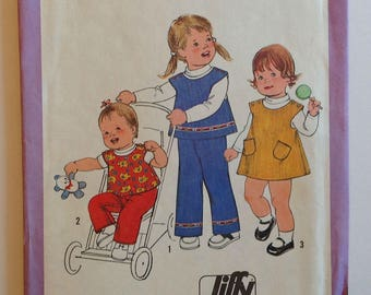 Simplicity 8716 Toddler Jumper Top and Pants Size 6 mo - 1 yr Vintage 1978