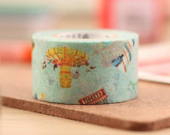 Mark's Japanese Washi Masking Tape / Amusement Park 25mm wide for packaging, party deco, crafting