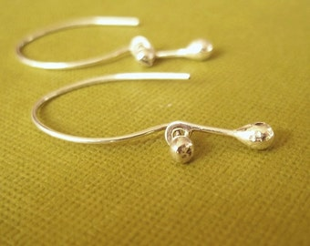 Shiny Droplets - Tiny Sterling Silver Nugget Earrings - mirror finish