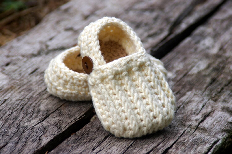 Baby Booties Crochet Pattern Easy On Loafers - Knit look crochet ...