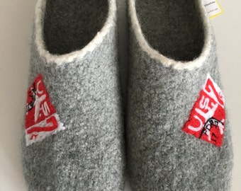 """Clogs """"Stamps"""" slippers, felt shoes"""