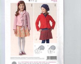 Kids Sewing Pattern Burda 9404 Jacket Size 3 4 5 6 7 8 UNCUT 99