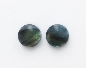 Matching Set of 11mm Labradorite Grooved Cabochons