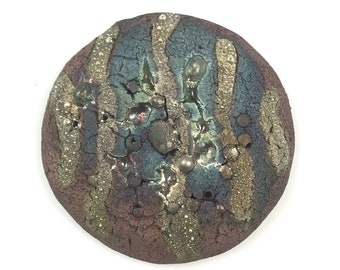 Raku Ceramic Cabochon Raku Jewelry Supplies Handmade by MAKUstudio