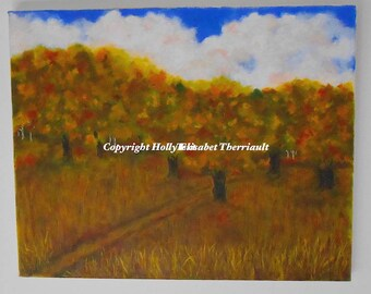 Oil Painting Original /Canvas Art/Fall Landscape/Home Decor/Home &Living/Wall Art