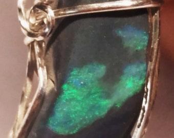 4256 Black Opal Pendant