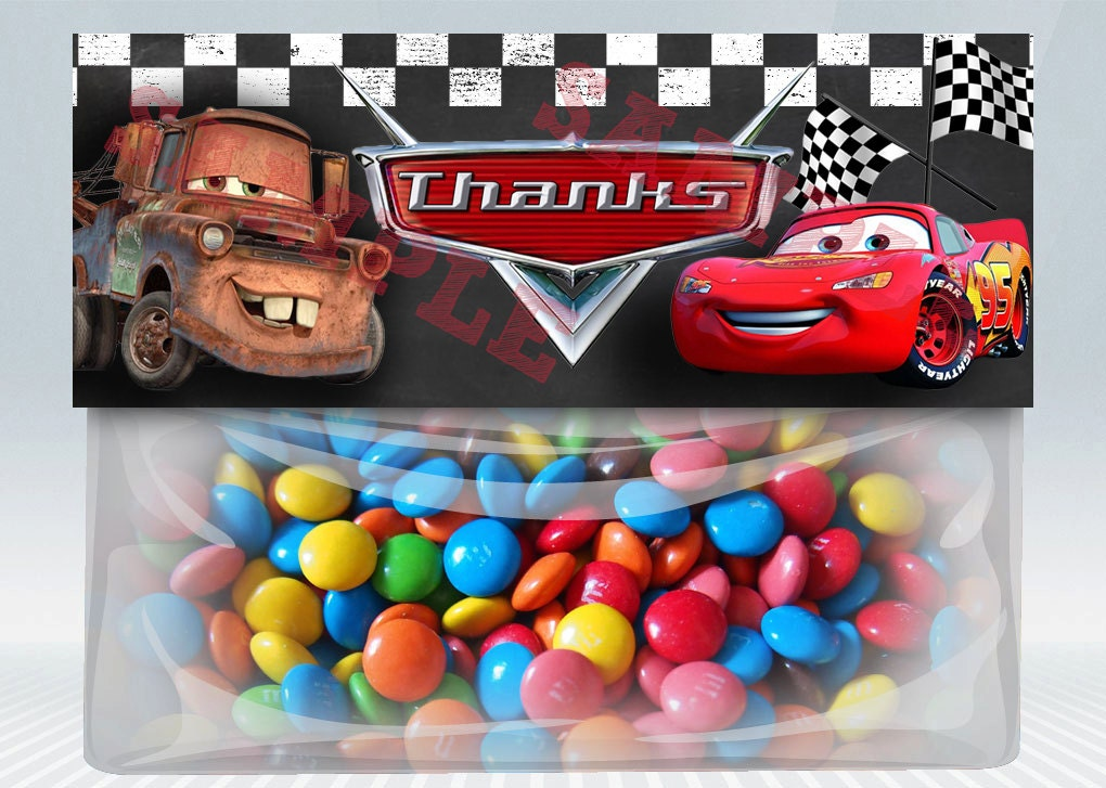 Cars Favor Bag Topper Treat Candy Party Disneys Disney