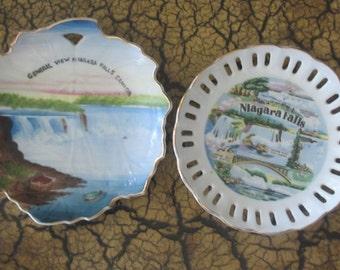 Niagara Falls Souvenir Plates 2