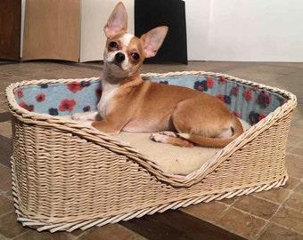 Floral basket for cat, dog, pet, pet bed, pet basket, pet furniture, dog bed, cat bed, cat furniture, dog furniture, Ht