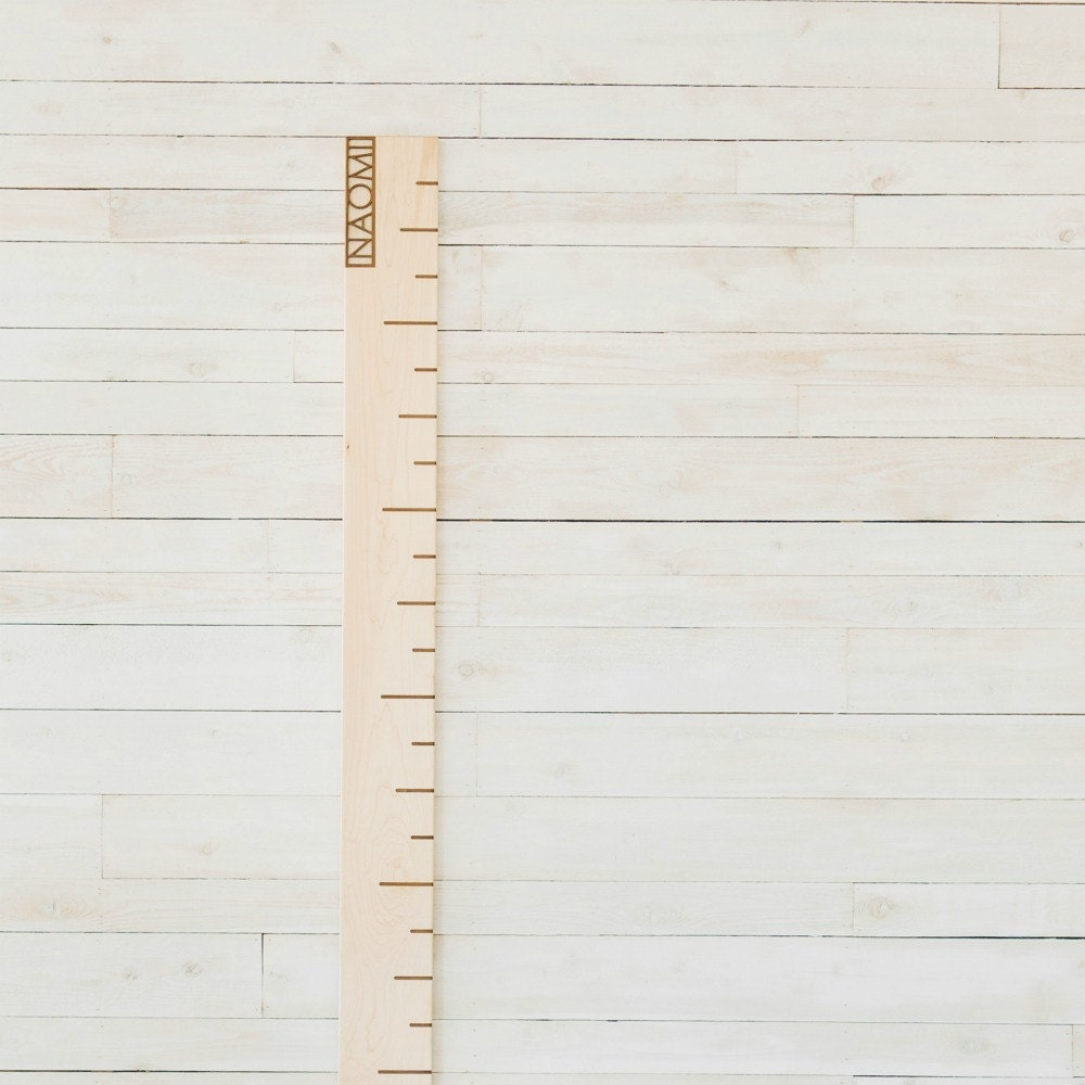 Maple personalized growth chart wooden ruler wall art description modern solid maple growth chart nvjuhfo Choice Image