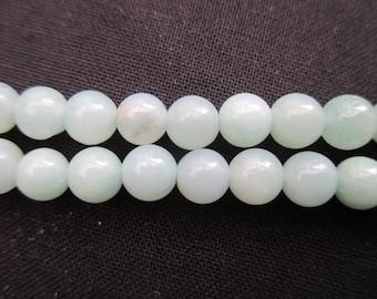 Amazonite: 15 round beads 6 mm