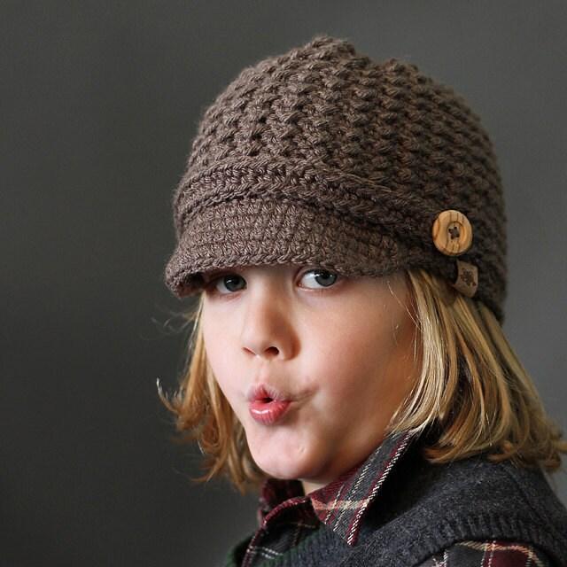 Crochet PATTERN Brookside Newsboy Cap Crochet Newsboy Pattern