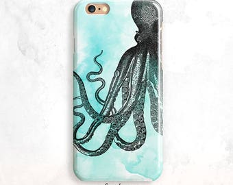 iPhone 8 cas, Octopus iPhone 7 cas, aquarelle pour iPhone X, SE Case, iPhone 5, iPhone Fun iPhone 6 cas, Octopus iPhone 7, iPhone 8 Plus