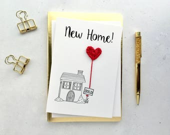 New Home card - New place card - New house card - Moving house card - Moving day card - New house gift - housewarming card