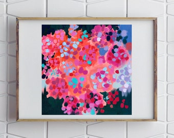 Pink Hydrangeas / Signed Floral Giclee Print