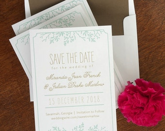 Winter Flowers Save The Date Cards, Engagement Announcements, Wedding Announcements, Modern Save the Date, Fun Invites /Winter Flora/AA4566