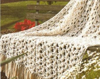Crochet Afghan Pralines n Cream /OhhhMama/  Lap Blanket Bedspread Throw Afghan  Wrap  vintage pattern instant download pdf