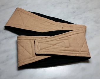 Belly Band Waist 13.00 x Width 3.25 inches Male Dog Wrap Diaper Belt by SewDog 3 Layers Quilted Padded #478 Caramel Tan
