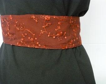 """Red lace"" headband belt"