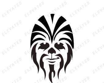 Star Wars Chewie Chewbacca Vinyl Decal Sticker for Car or Home