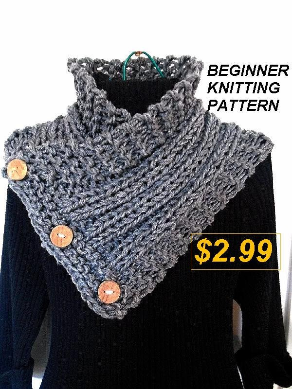 KNIT SCARF Pattern, Scarf Knitting Pattern - Hectanooga Side ...