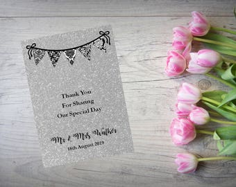 Personalised Wedding Thank You Cards with Matching Envelopes Pack Of 10 TY72