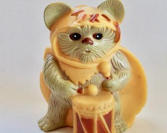 Vintage 1980's Star Wars Return Of The Jedi Wicket The Ewok Vinyl Piggy Bank!