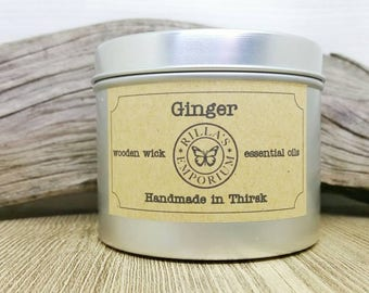 Ginger - Wooden Wick Travel Candle
