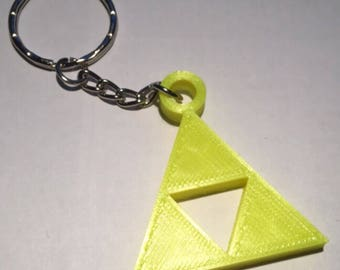 Legend of Zelda Triforce Keyring! 3D Printed! - Yellow