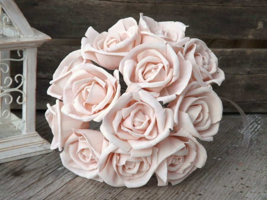 12 stemmed sola roses blush pink light pink sola flower set of zoom mightylinksfo