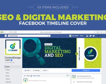 SEO and Digital Marketing Agency/Company Social Media Cover Design Template   Facebook Cover, Twitter Cover, Youtube Channel Art