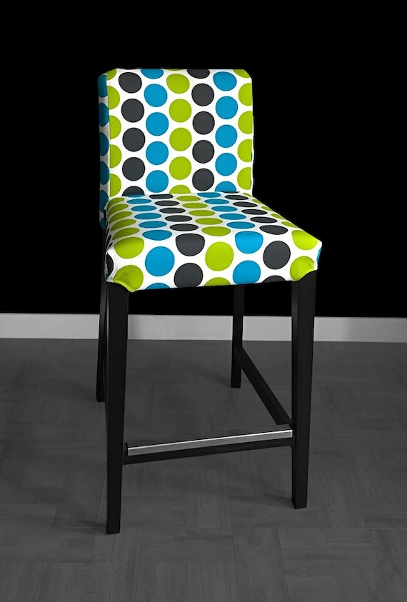 Colorful Dots Henriksdal Bar Stool Chair Cover Funky