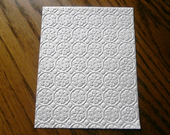 FROST Snowflakes Embossed Card Stock Panels Perfect for Scrapbooking and Card Making - Set of 12