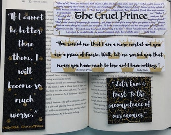The Cruel Prince bookmark set