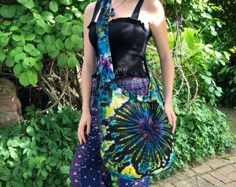 Colorful Tye-Dye Cotton Shoulder Bag from Inspired Planet