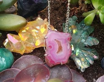 Solar quartz necklace handmade unique yoga