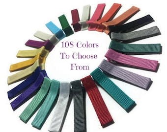 400 Solid Lined Alligator Clips, 45mm, No Slip Hair Clips, Lined Hair Clips, Solid Hair Clips, Partially, Fully Lined, Double, Single Prong