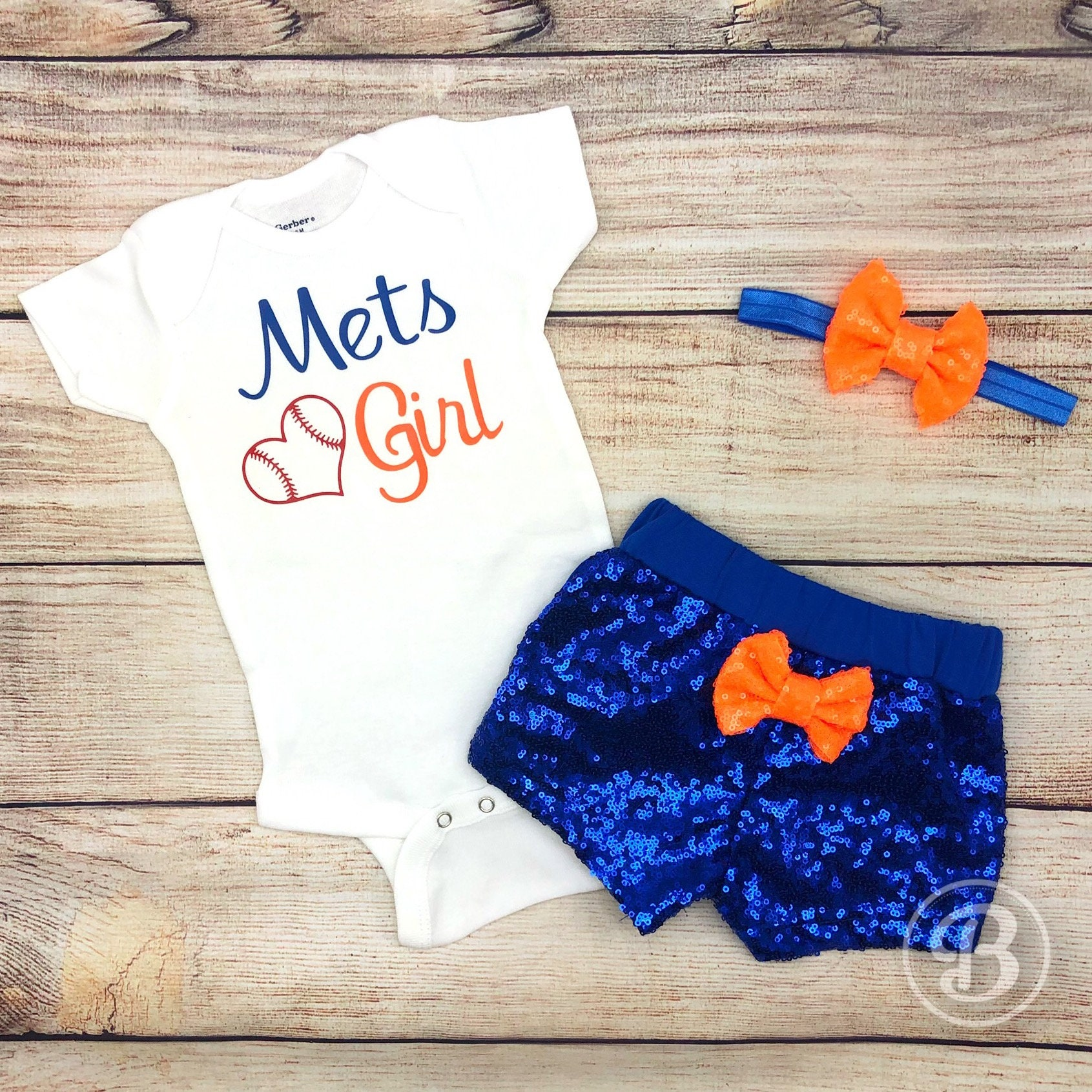 New York Mets Baby Girl Game Day Outfit Mets Baseball Baby