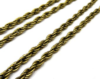 1 meter of 5mm twisted mesh chain bronze