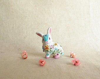 Easter Bunny Figurine. One of a kind.