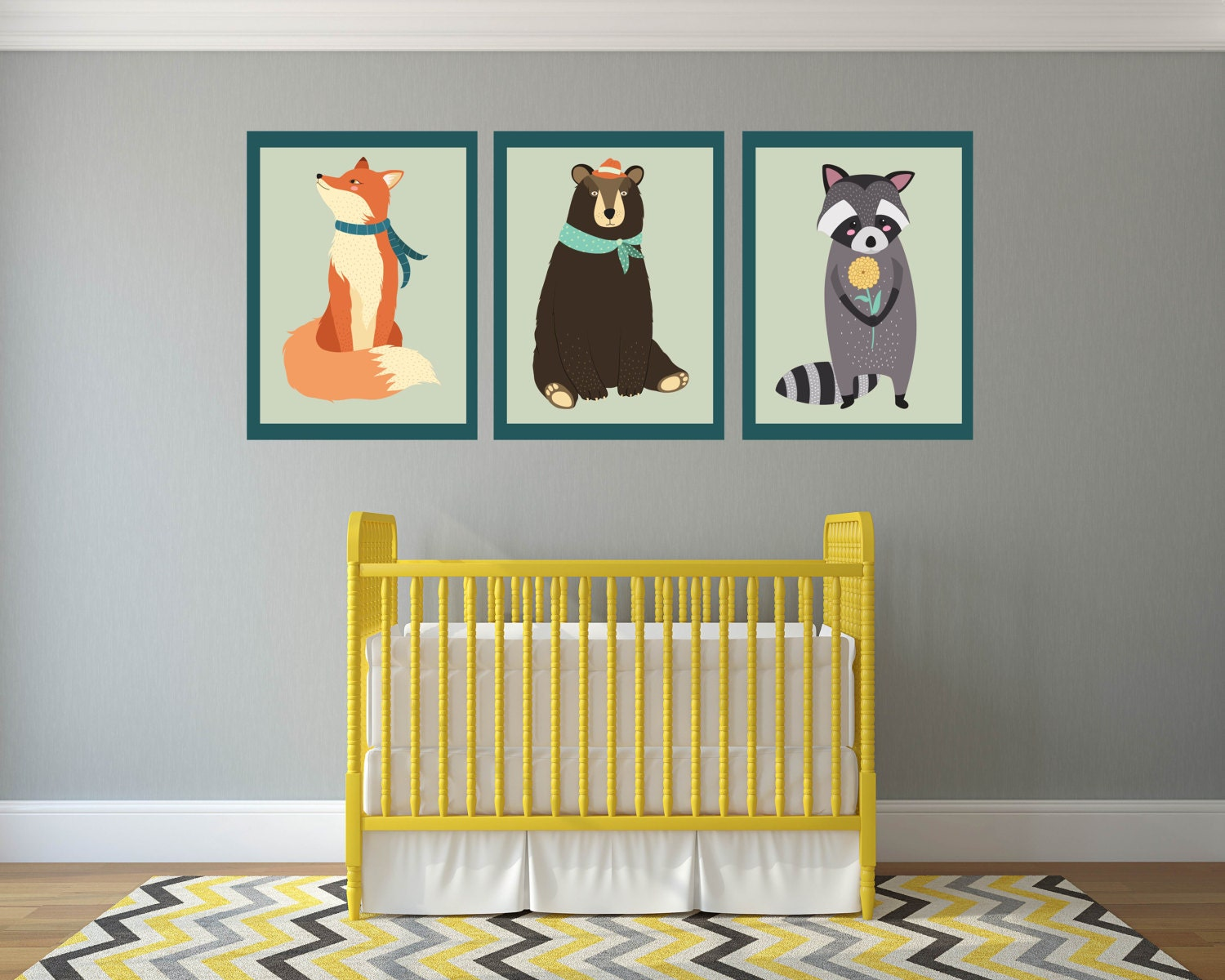 Comfortable Woodland Nursery Wall Decor Gallery - The Wall Art ...