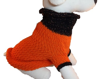 """Sweater""""Donny"""", size arbitrary, wool, crocheted rose application"""