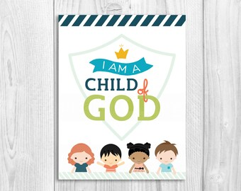 2018 Primary Theme LDS, sharing time, CTR, I am a child of God