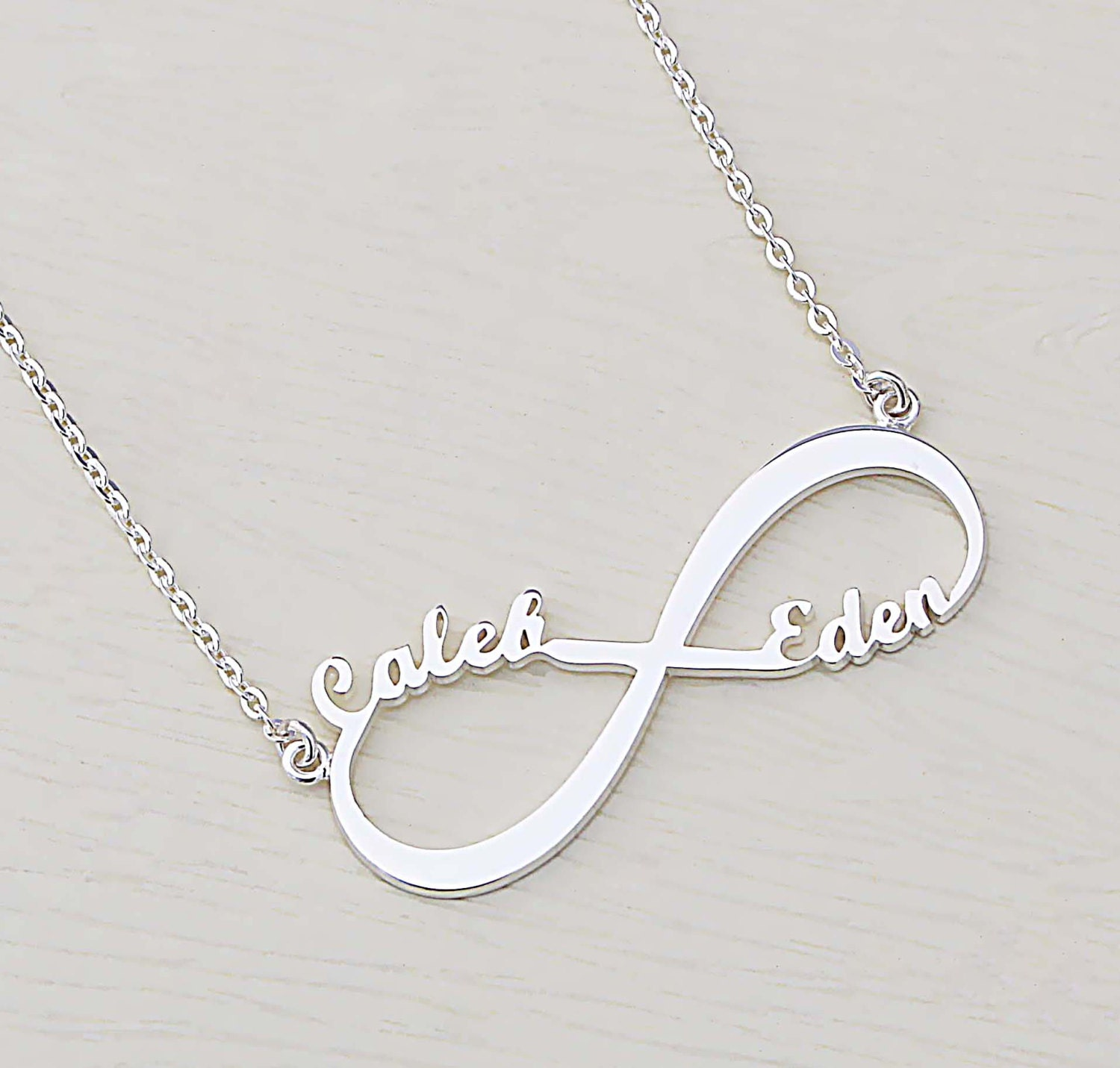 Sale 30 Off Infinity Symbol Necklace Name Necklace