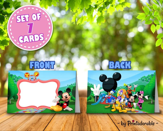 Mickey Food Label - Mickey Food Tent - Mickey Food Card - Mickey Name Plate - Mickey Buffet Label - Mickey Party Set - Mickey Party Kit