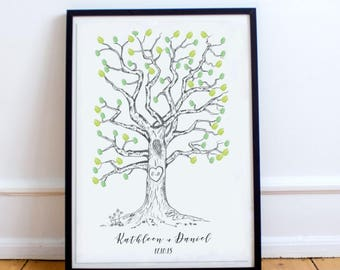 Wedding Thumbprint Tree Guestbook